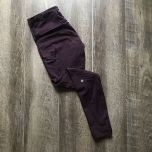 lululemon Plum Fresh Track Tight Size 6